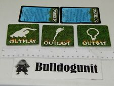 2000 Survivor Board Game Category Card Covers & Reference Scoring Cards Only