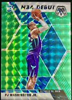 2019-20 Panini Prizm Mosaic Pj Washington Jr. Rookie Card RC Green Debut Hornets