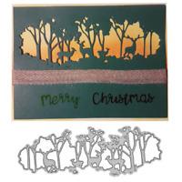 Christmas Forest Deer Metal Cutting Dies Stencil Scrapbooking Embossing Paper