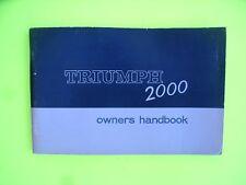Triumph 2000 Mk 1 Facelift Handbook
