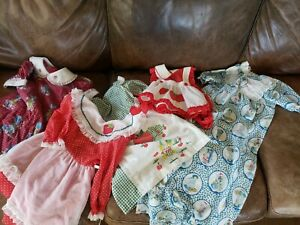 Vintage 1970's Lot of Strawberry Shortcake Holly Hobbie Night Gown & Dresses