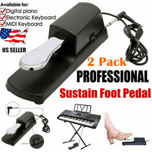 2 Pack Piano Sustain Pedal Keyboard Damper Pedal For Casio Yamaha Roland w X5J5