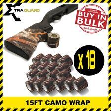 18PCS Gun Camo Wrap 15FT Rifle Shotgun Sleeve Cover Bow Conseal Protective Roll