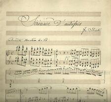 Sérénade D'Autrefois di F. Silvestri Antico Spartito Manoscritto 1880 c.a