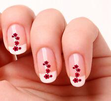 20 Nail Art calcomanías transferencias pegatinas # 141-red/pink O Flores Amarillas
