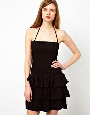 Ganni Bandeau Barbara Dress with Tiered Ruffle Skirt GREEN - M-UK 10-12 rrp £170