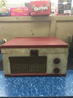 Vintage Portable Tube Record Player The Voice of Music Model 210