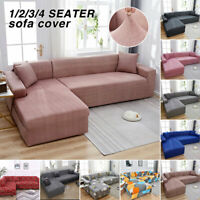 Elastic Sofa Covers Slipcovers Stretch Couch Furniture Protector For 1-4 seater