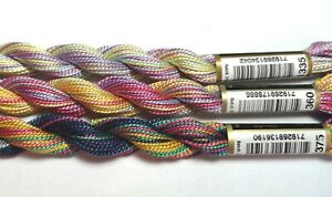 3x Anchor Variegated Perle Cotton No.5 - rainbow pack
