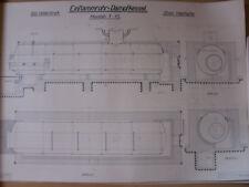 14 Dampfkessel Konstruktions Zeichnung Dampfmaschine Mittweida 1927 Bauhaus Loft