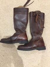 El Estribo Spanish Leather Riding Boots Sz 39/40 Suede Lined