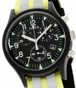 Timex Military MK1 Alu Herrenuhr Chronograph TW2R81400 Stoppuhr Beleuchtung NEU