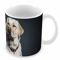 Mug Céramique Chien Labrador Sable Heureux Calme Sourit Pose Sage Exemplaire Fon