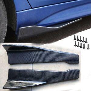 Car Bumper Spoiler Rear Lip Side Skirt Extension Splitter Winglet Wing Kit