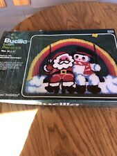 New listing Vintage Bucilla Latch Hook Rug While hanging Rainbow holiday