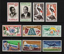 MALI C9-10; C11; C15; C16-18; C19-20, C21 EARLY AIRMAILS Mint Hinged CV $30.15