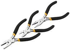"3 Piece 4.5"" / 115mm Cable/Wire Side Cutter,Combination & Long Nose Plier Set"