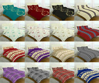 Flannel 100% Brushed Cotton Sheet Set Includes Fitted + Flat Sheet +Pillow Case