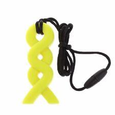 Twist Sensory Chew Silicone Necklace Pendant BPA Free Autism ADHD UKSeller Yello