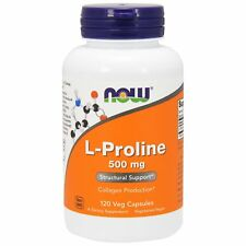 L-Proline - 120 - 500mg Vcaps by Now Foods - Joint Health & Collagen Amino Acid