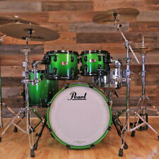 PEARL REFERENCE 4 PIECE DRUM KIT, EMERALD FADE, PAISTE CYMBALS, PEARL H/W