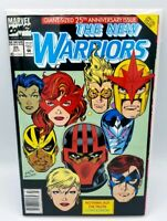 The New Warriors 25 Giant Sized Comic Book Magazine Retro Vintage Marvel NM