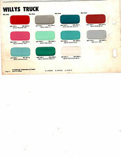 1960 1961 1962 WILLYS JEEP TRUCK 60 61 62 PAINT CHIPS 62 MARTIN SENOUR 3 11PC