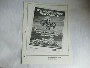 Case 4690 4490 4890 4WD tractor dealer print advertising MAT brochure