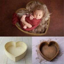 New Wooden Photography Prop Cot Baby Photo Props Newborn Photographic Heart Bed