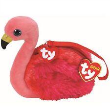New 2018 TY Gear Beanie Boos GILDA Flamingo Boo Wristlet Coin Purse with Strap