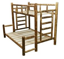Cedar Rustic Log Bunk Bed - Classic Series - TwinXL/Queen