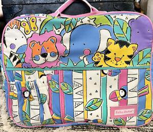 Vintage Baby Boom Diaper Bag Multicolor Jungle Theme Pink!