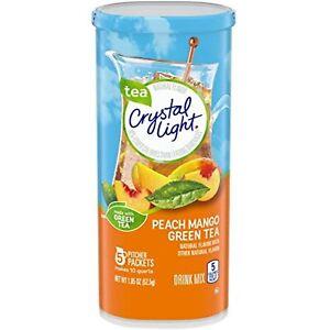 Crystal Light Peach Mango Green Tea Drink Mix PACK OF 6