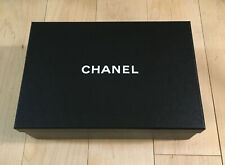 """CHANEL Empty Shoe Gift Storage Box 12"""" x 8"""" x 4"""" w/Tissue Paper and Cards"""