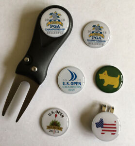 Pitchfork and Golf  Hat Clip and 6 mixed Markers - FREE UK P&P