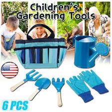 Kids Children Garden Gloves Shovel Gardening Tools Fork Gardener Watering Can