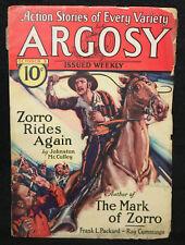 Action Stories of Every Variety Argosy Vol.224 #3 Pulp - Zorro (VG) 10/3/1931