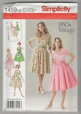 Simplicity Sewing Pattern 1459 Miss Retro Style Rockabilly Flared Dress Sz 16-24
