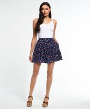 Womens Superdry Button Through Rydell Skirt Stem Floral M