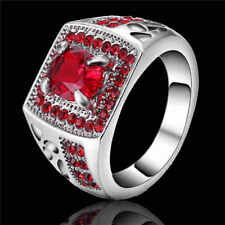 New Fashion  Women's 10kt white gold filled (red)Ruby Ring  Gift size 7