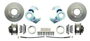 Drum to Disc Brake Conversion Kit 41-71 Jeep 5 Lug Rotors/Calipers 25/27 Knuckle