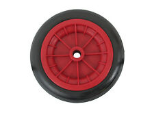 """Wheelbarrow RED Wheel Replacement Solid Wheel Made In UK No More Punctures 12"""""""