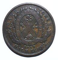 "1837 Canada Half 1/2 Penny / 1 Sou ""BANK OF MONTREAL"" - Lot 1211"