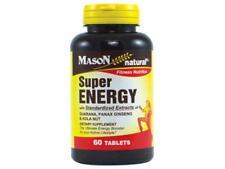 60 TABLETS SUPER ENERGY WITH GUARANA PANAX GINSENG & KOLA NUT HIGH LEVELS