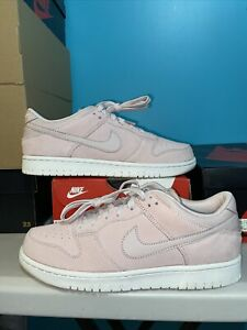 NIKE DUNK LOW WHITE SUEDE RED SILT MILLENNIAL PINK MENS 8.5WOMENS 10 NEW RARE
