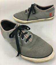 ad1021069f Chrome Mens 9 Gray Canvas Gym Shoes Sneakers Shows Wear on Topline of Heels