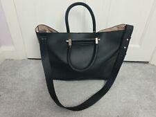 TOPSHOP Black Faux Leather Smart Work Office Casual Strap Bag Handbag
