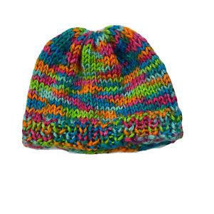 Baby Crochet Hat Multicolor Newborn Knit Nursery Beanie Cap
