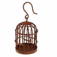 EB_ CO_ Miniature Hollow Hook Birdcage Dollhouse Fairy Garden DIY Pendant Decor