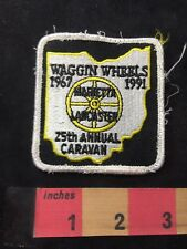 Vtg WAGGIN WHEELS 1991 25th Caravan Marietta Lancaster Pennsylvania Patch O89N